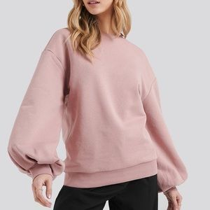 VERY CUTE pink sweater, open from the back